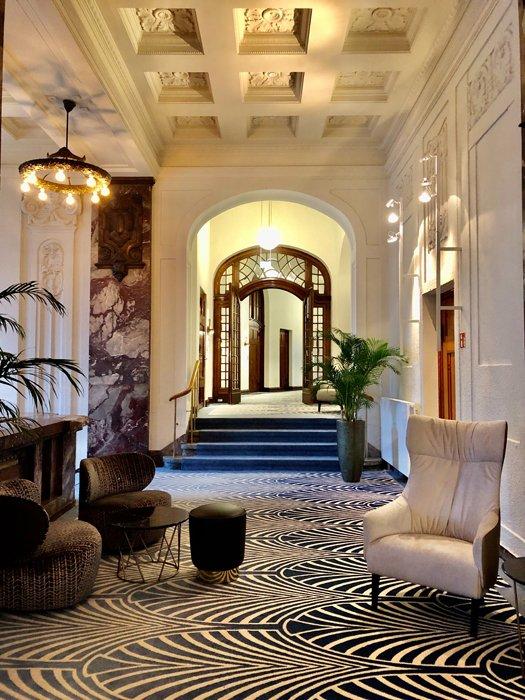 Interior of a lavish hotel