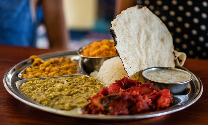 Indian food photography with a close up of a classic dish