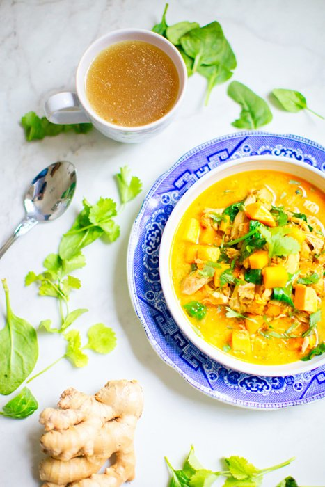 Bright and airy Indian food photography