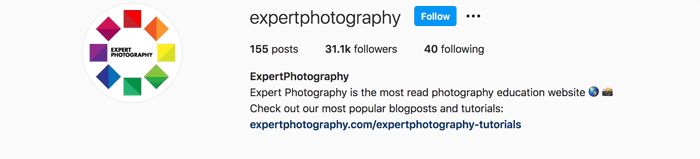 Example of an Instagram profile picture