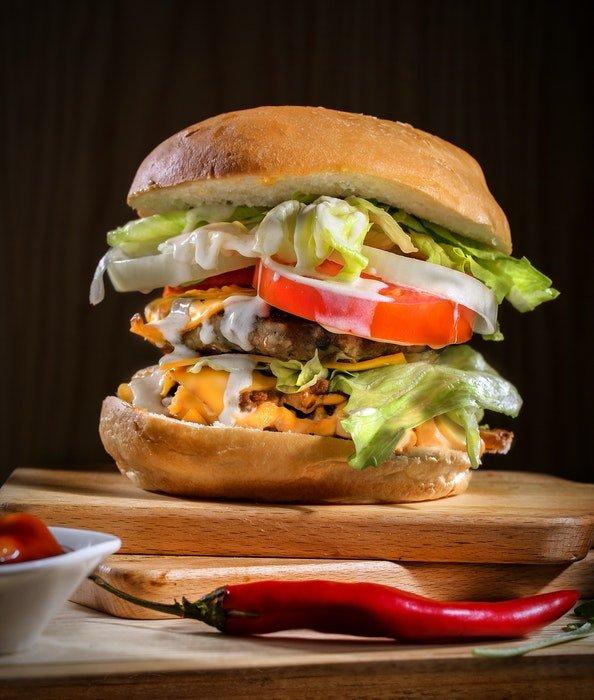 A delicious hamburger