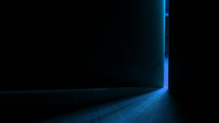 Light from an open door.