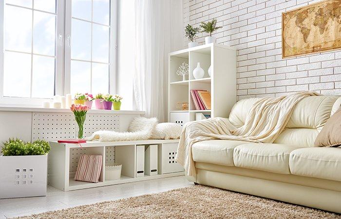 Interior photograph of a modern living room.