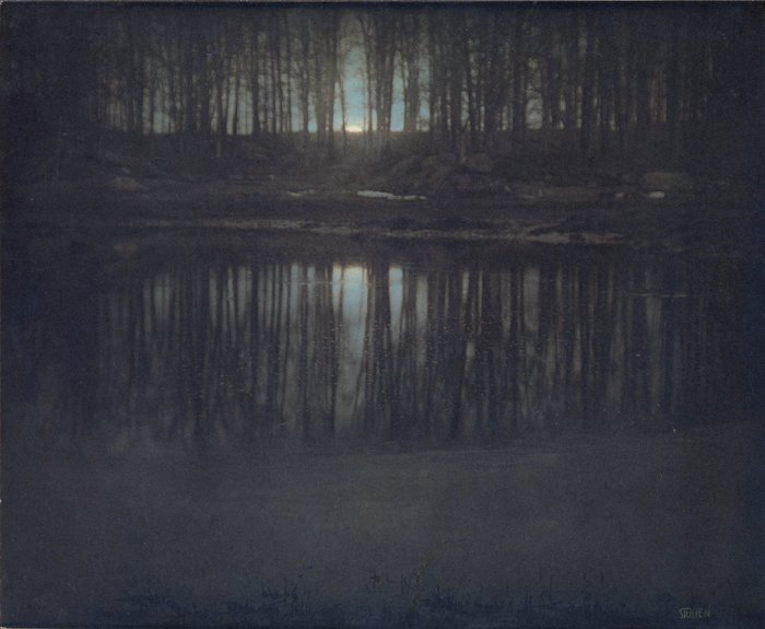The Pond - Moonlight Photograph by Edvard Steichen - 1904
