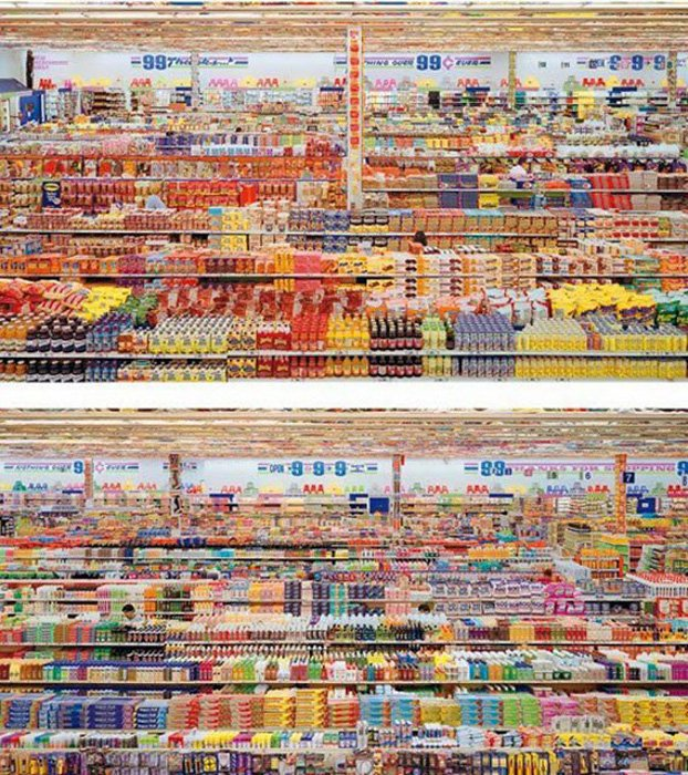 99 Cent II Diptychon by Andreas Gursky - 2001