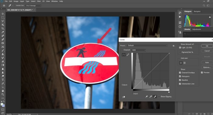 A screenshot of setting the white point in Photoshop