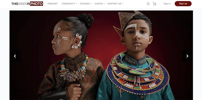 Screenshot of ThisWeekInPhoto photography blog homepage