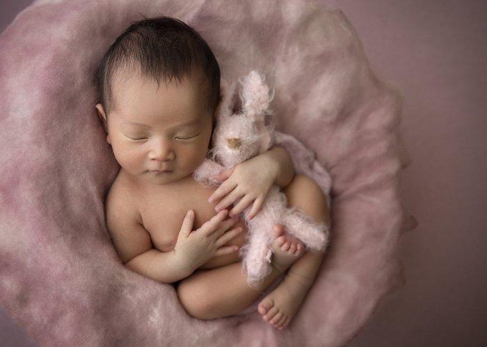 A newborn baby portrait