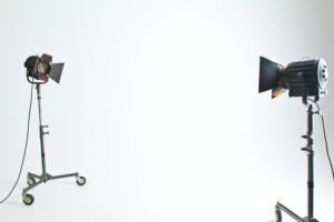 Photography lighting in a studio
