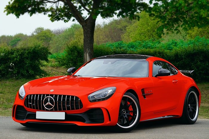 Photo of a red sports car