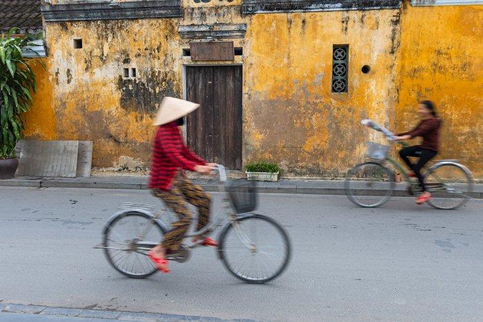 Cyclists on a street.
