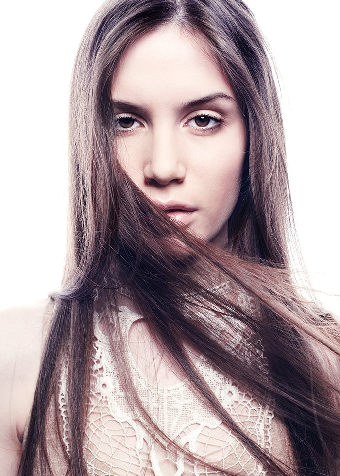 Fashion portrait of young beautiful elegant woman.