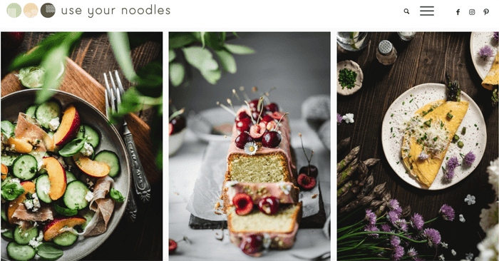 Food photography triptych from Use Your Noodles blog