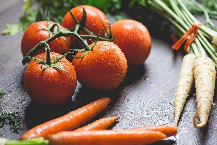 Close up of preparing vegetables