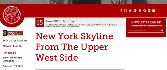 Screenshot of Trey Ratcliff blog homepage