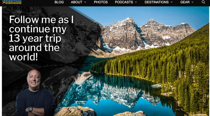 Screenshot of Gary Arnt blog homepage