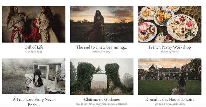 Screenshot of Ann Street Studios photography blog homepage