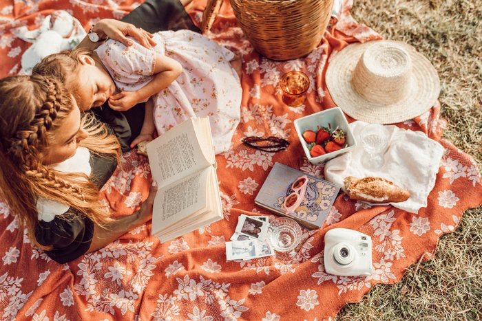 A dreamy overhead picnic photo