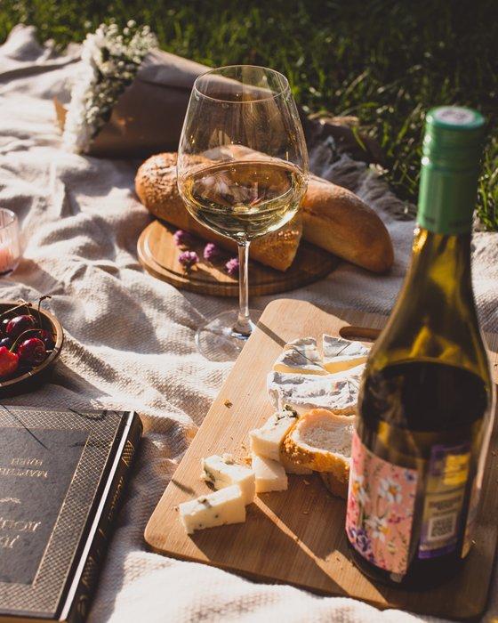 Luxurious picnic food
