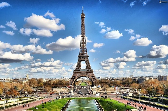 Stock photo of the Eiffel tower