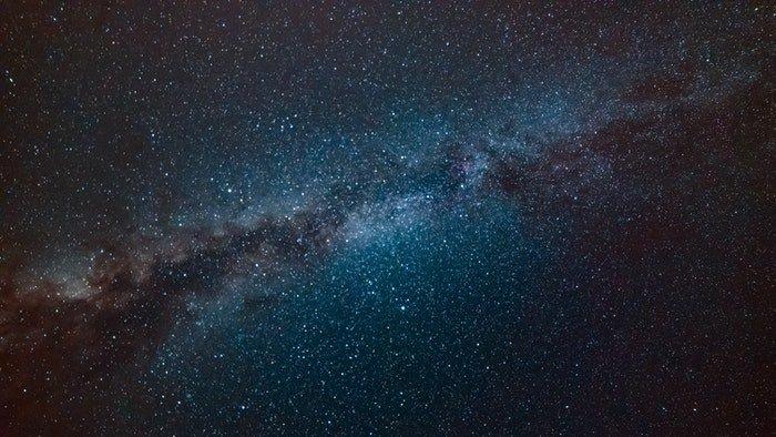 Impressive starry sky at night