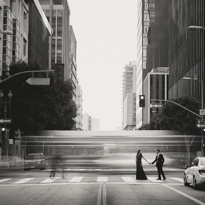 Black and white street image from Fstoppers Introduction to Lightroom course