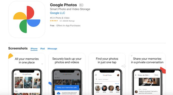 A screenshot of google photos