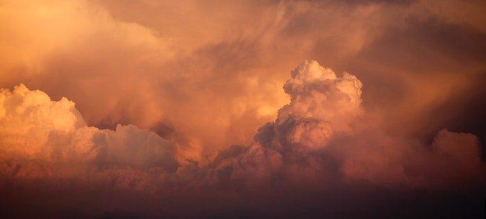 photo of orange color clouds
