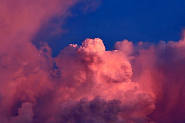 photo of impressive pink and purple clouds