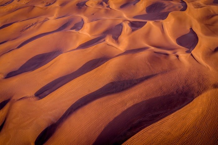 Desert photography from above