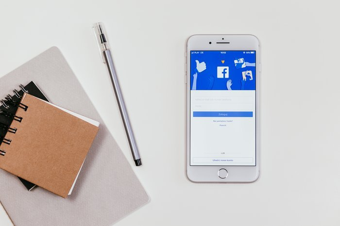 A smartphone with Facebook on the screen