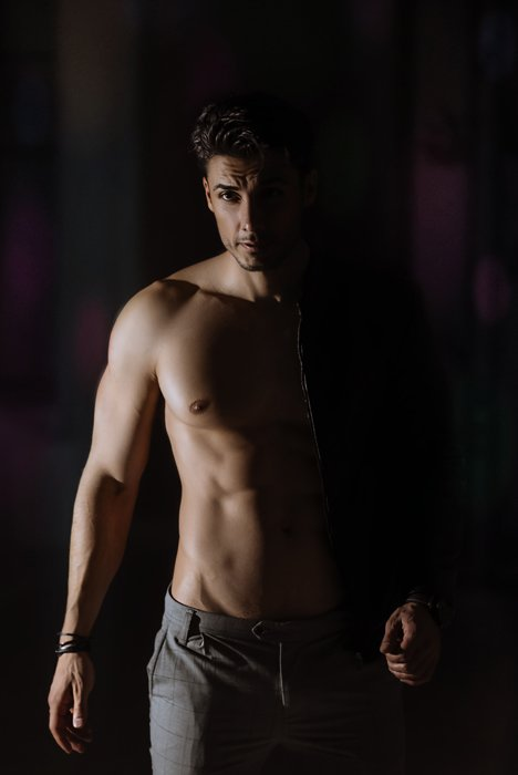 photo of a male model