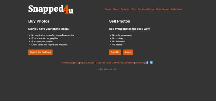 Snapped4u homepage