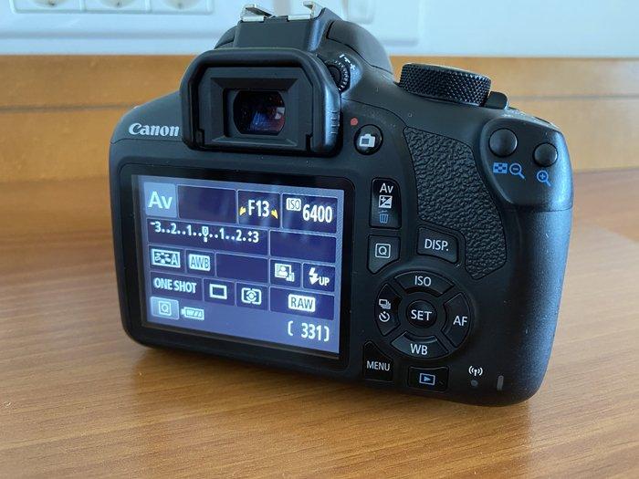 a reverse shot of a Canon 1300D digital viewfinder