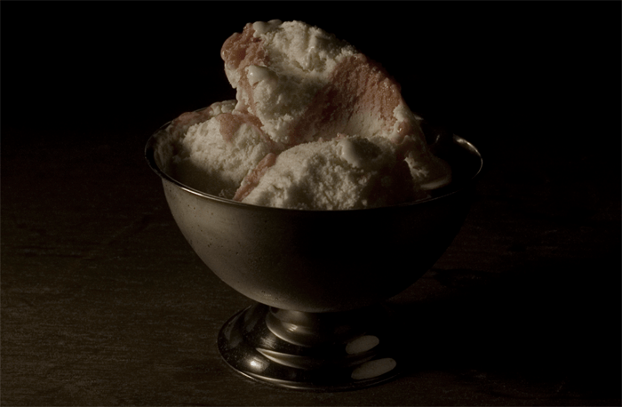 Dark still life photo of food in a bowl by Mat Collishaw