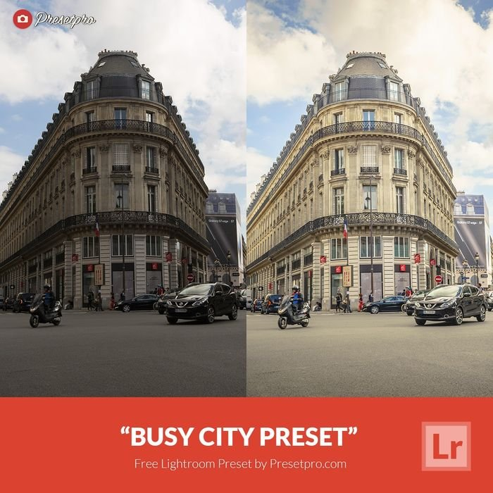 a before and after photo with a Lightroom preset