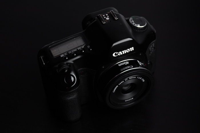 Canon camera with EF 40mm f/2.8 STM Lens