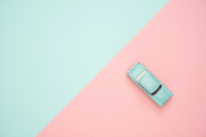 color blocking photo of blue and pink