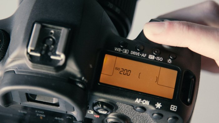 photo of setting iso on a dslr camera