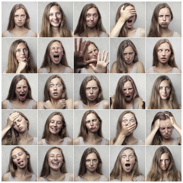 A grid of different profile photo poses
