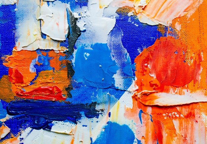 Detail of an abstract painting