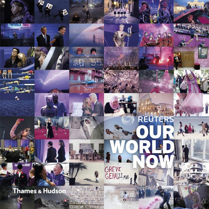 The front cover of 'Our World Now 6: Reuters' photography book