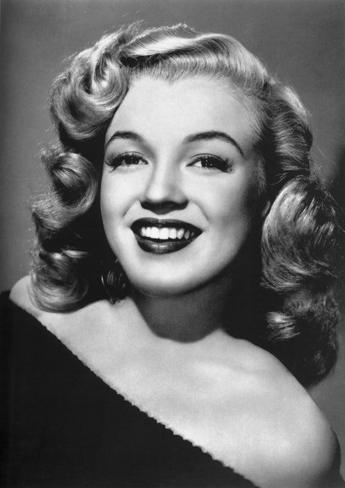 Vintage Hollywood portrait of a woman