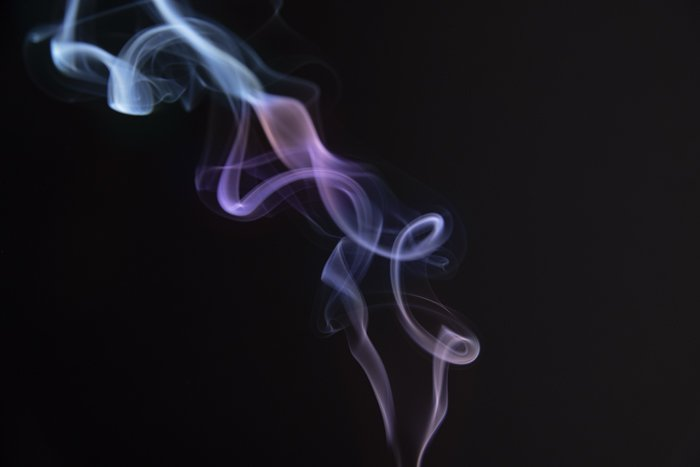 Smoke trailing from an incense stick