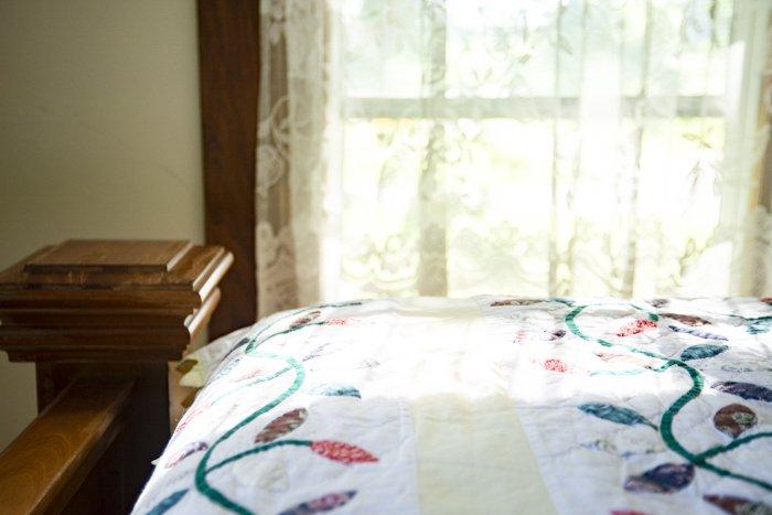 A bedroom interior