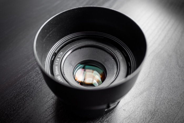 Canon EF 50mm f 1.8 lens