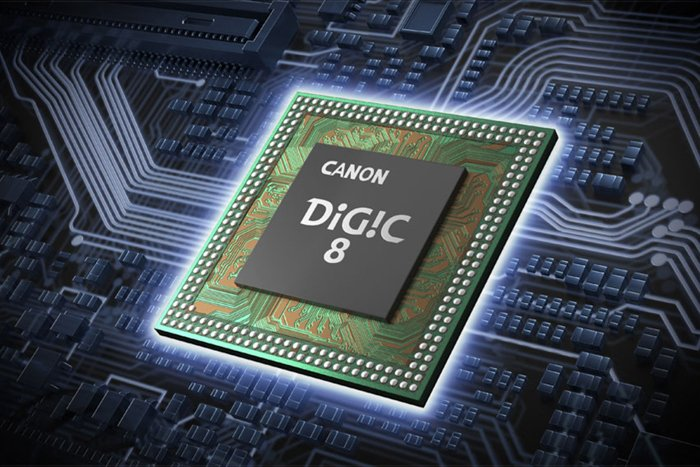a graphic of a Canon DIGIC 8 chip