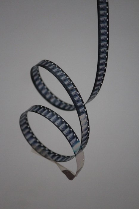 A strip of black and white film