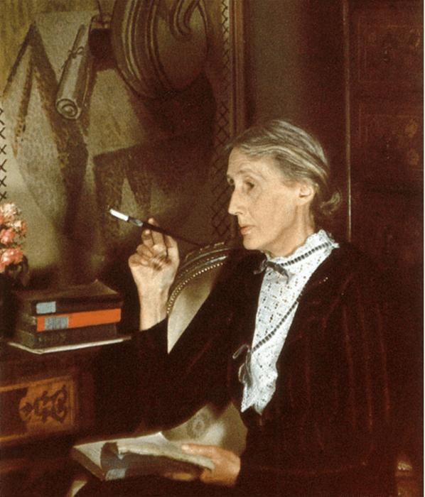 A portrait of Virginia Woolf by Gisele Freund