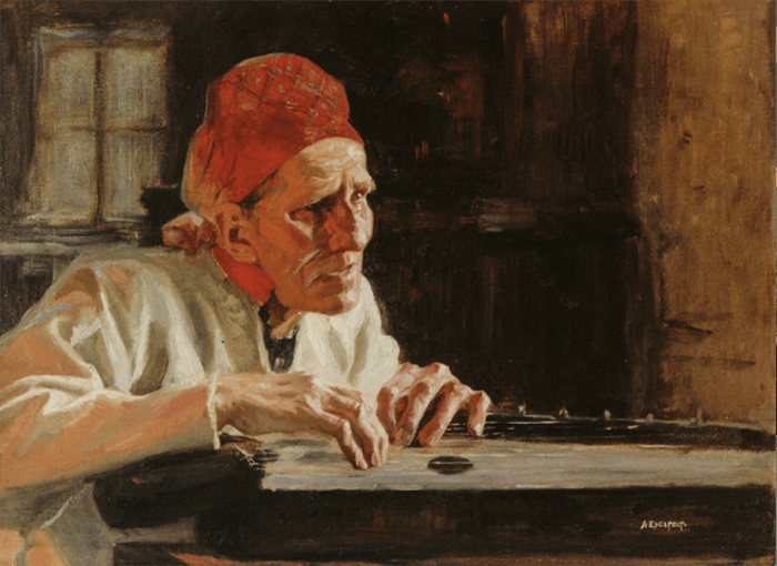 a painting by Albert Edelfelt which shows an example of lead room